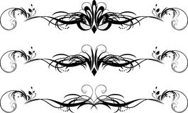 Three floral pattern for design of frames Royalty Free Stock Photos