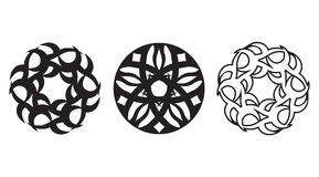 Three floral spheres Stock Photo
