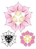 Three flower emblem Stock Image