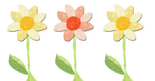 Three flowers. In a line royalty free illustration