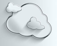 Three Fluffy Chrome Clouds With Shadows Royalty Free Stock Images