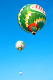 Three flying balloons Royalty Free Stock Photos