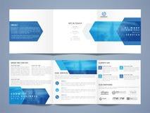 Three Fold Business Brochure Set. Three Fold Business Brochure Set with Front, Inner or Back Pages Presentation Royalty Free Stock Photography