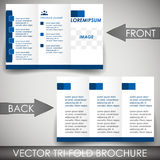 Three-fold flyer template, corporate brochure or cover design Royalty Free Stock Photos