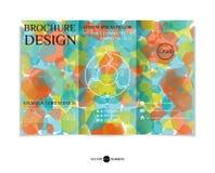 Three-fold leaflet design. Royalty Free Stock Photos