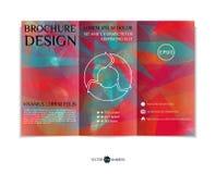 Three-fold leaflet design. Royalty Free Stock Photo