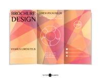 Three-fold leaflet design. Stock Image