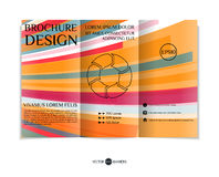 Three-fold leaflet design. Royalty Free Stock Images