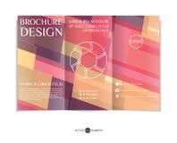 Three-fold leaflet design. Royalty Free Stock Image