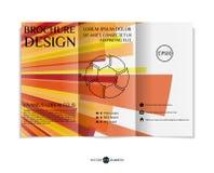 Three-fold leaflet design. Stock Images