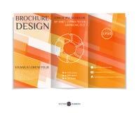 Three-fold leaflet design. Stock Photography