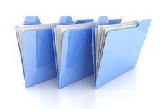 Three Folder Royalty Free Stock Images