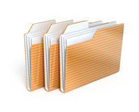 Three folders Royalty Free Stock Photography