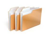 Three folders Royalty Free Stock Photography