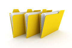 Three Folders Stock Image