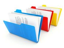 Three folders Royalty Free Stock Image