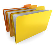 Three folders Royalty Free Stock Image