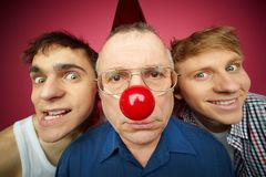 Three fools Stock Images