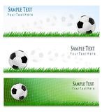 Three Football backgrounds. Vector. Royalty Free Stock Images