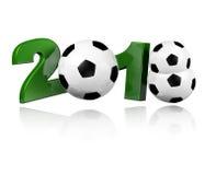 Three Football balls 2018 Design Royalty Free Stock Images