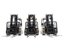 Three forklift trucks Stock Photography