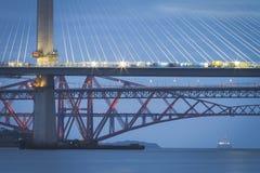 Three forth bridges royalty free stock photo