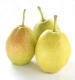 Three fragrant pears Royalty Free Stock Images
