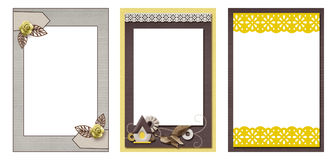Three frames Royalty Free Stock Images