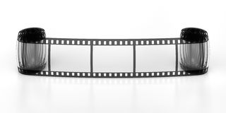 Three frames of the filmstrip. Three frames of the film Stock Photography
