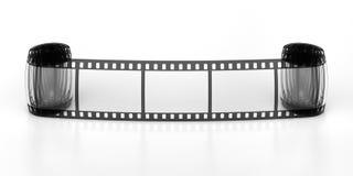 Three frames of the filmstrip. Three frames of the film royalty free illustration