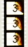 Cinema Movie Countdown Filmstrip Royalty Free Stock Photos