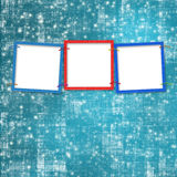 Three frames for photos Royalty Free Stock Images