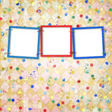 Three frames for photos Royalty Free Stock Image