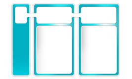 Three frames for text. Three blue frames for text Royalty Free Illustration