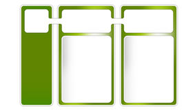 Three frames for text. Three green frames for text Stock Illustration