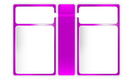Three frames for text. Three purple frames for text Vector Illustration
