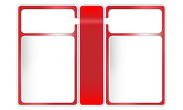 Three frames  for text. Red three frames for text Vector Illustration