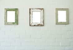 Three frames on wall Royalty Free Stock Image