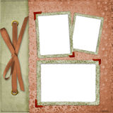 Three Frames With Ribbons And Bow Stock Images