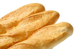 Three French baguette Stock Images
