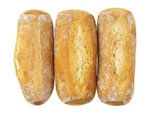 Three french baguette Stock Photos