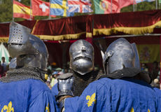 Three french knights Royalty Free Stock Photo