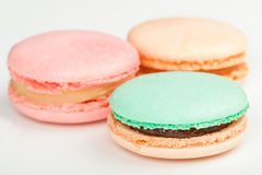 Three French Macarons Stock Photography
