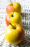 Three Fresh Apples Stock Photo