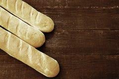 Three fresh baguette Stock Photo