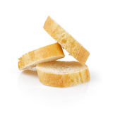 Three fresh baked baguette slices Royalty Free Stock Photo