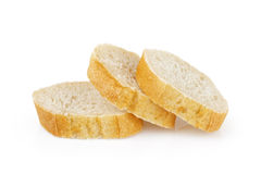 Three fresh baked baguette slices Stock Photos
