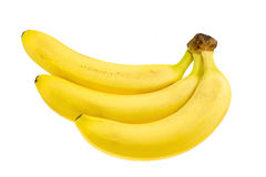 Three fresh bananas. Royalty Free Stock Image