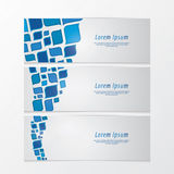 Three fresh banners. Modern design. Abstract retro mosaic - colo Royalty Free Stock Images