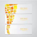 Three fresh banners. Modern design. Abstract retro mosaic - colo Stock Photo